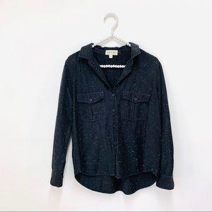 Anthropologie Cloth & Stone Flannel Popover